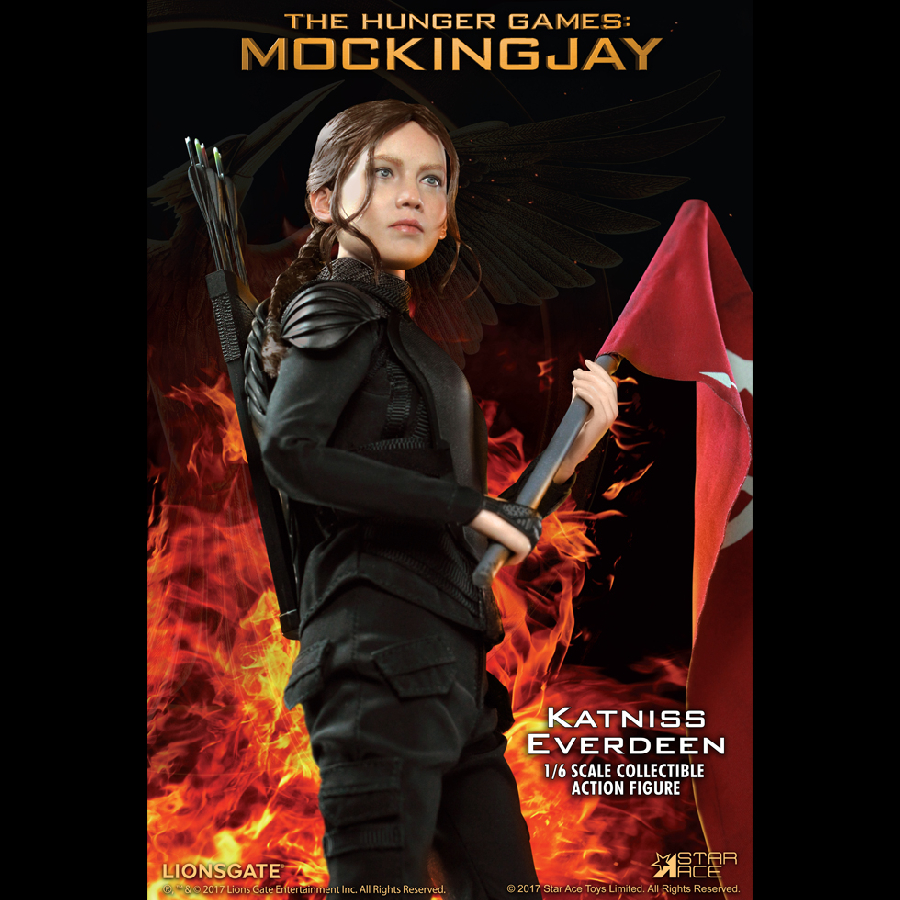STAR ACE HUNGER GAMES IL CANTO DELLA RIVOLTA Katniss Everdeen Giacca Loose SCALA 1//6th